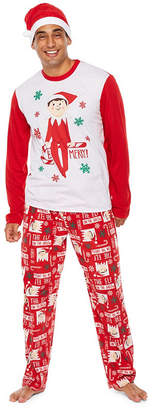 ELF ON THE SHELF Elf On The Shelf 2 Piece Pajama Set -Men's
