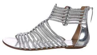 Aquazzura Metallic Gladiator Sandals