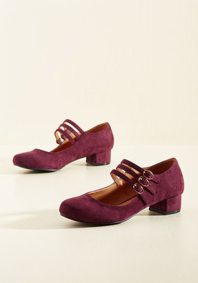 NYLA Shoes Inc. All Tapped Out Mary Jane Heel in Burgundy $49.99 thestylecure.com