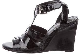Theory Patent Leather Wedge Sandals
