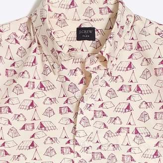 J.Crew Factory Slim-fit short-sleeve flex tent printed shirt
