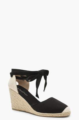 3d904ad6509 boohoo Canvas Espadrille Wedges