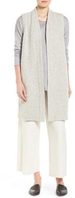 Women's Eileen Fisher Wool Blend Tweed Kimono Vest $338 thestylecure.com