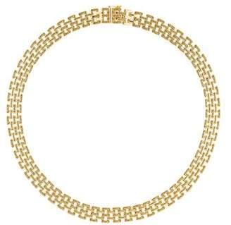 14K Flat Link Necklace