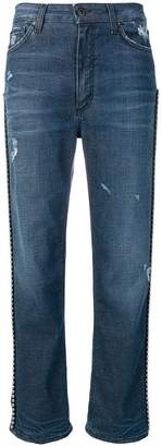 Dondup distressed straight-cut jeans