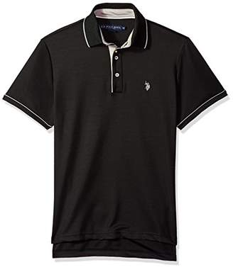 U.S. Polo Assn. Men's Short Sleeve Classic Fit Solid Poly Shirt