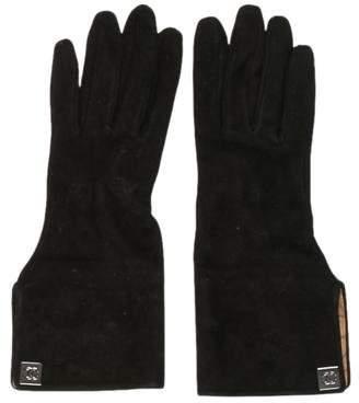 Chanel CC Suede Gloves
