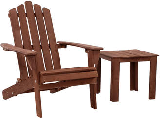 Adirondack Dwell Outdoor Brown Valencia Outdoor Chair & Table Set
