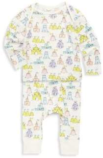 Stella McCartney Baby's Two-Piece Buster & Macy Sandcastle-Print Cotton Top & Pants Set