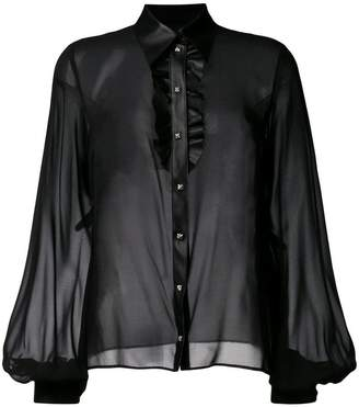 John Richmond billowing sleeve blouse