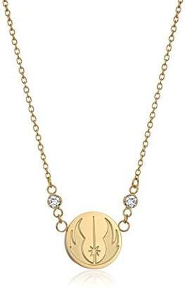 Star Wars Jewelry Jedi Symbol -Plated Pendant Necklace