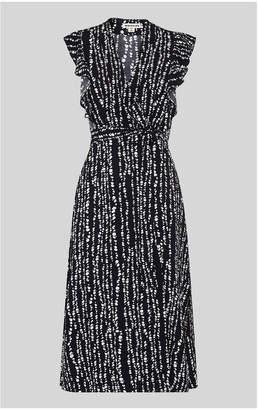 50901ba4b807 at Whistles · Whistles Savannah Print Wrap Dress