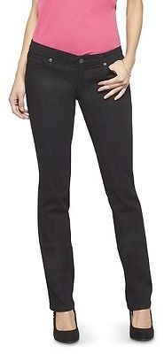 Women's Mid-rise Straight Leg Jeans (Modern Fit) Black - Mossimo $27.99 thestylecure.com