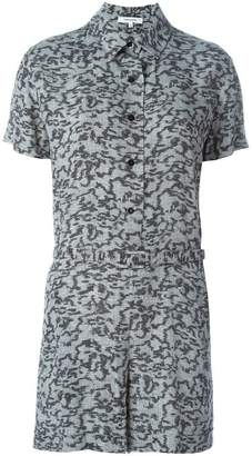 Carven printed button playsuit