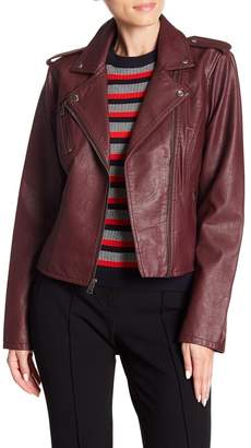Levi's Zip Front Faux Leather Jacket