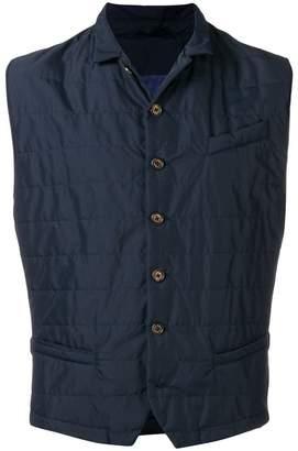 Eleventy button padded vest