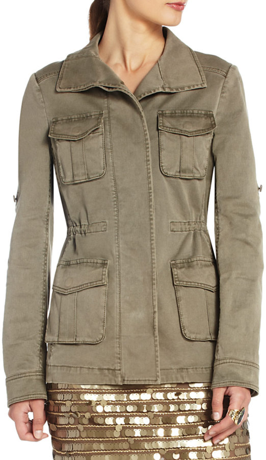 BCBGMAXAZRIA Bronnen Open-Back Safari Jacket