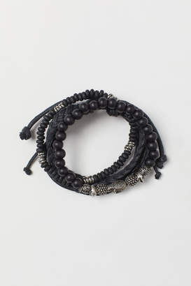H&M 4-pack Bracelets - Black