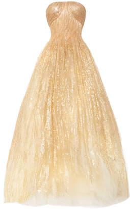 Oscar de la Renta Metallic Tulle Gown