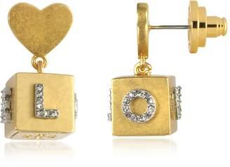 Tory Burch Love Message Cube Drop Earrings