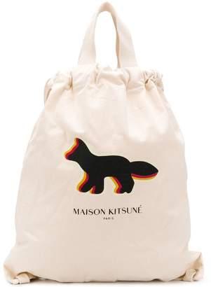 MAISON KITSUNÉ fox logo tote bag