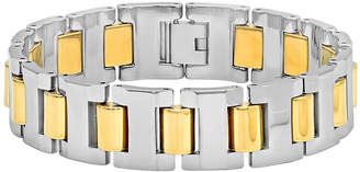 FINE JEWELRY Mens Two-Tone Tungsten Carbide Bracelet
