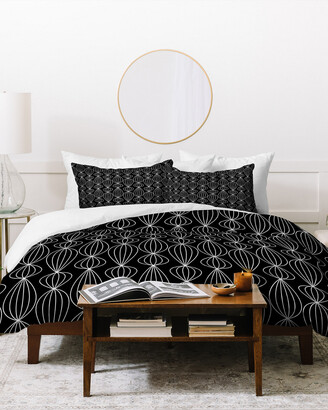 Deny Designs Gabi Lanterns Black Duvet Cover Set