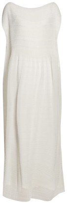The Row Prado Plisse Crepe Maxi Dress - Womens - Ivory