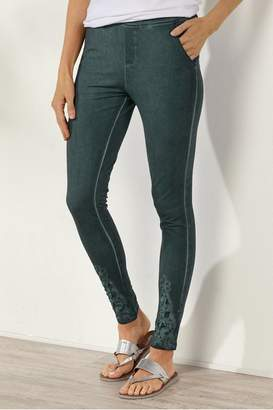 Soft Surroundings Lace Detail Leggings