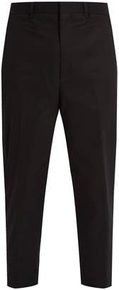 Neil Barrett Slim-fit cropped cotton-blend trousers