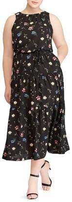 Lauren Ralph Lauren Tiered Floral Midi Dress
