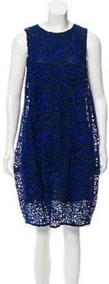 Oscar de la Renta Sleeveless Lace Dress