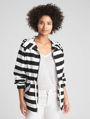 Gap Short Stripe Parka Jacket