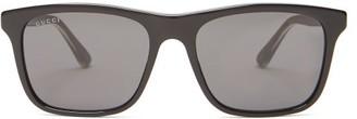 Gucci Square Frame Acetate Sunglasses - Mens - Black