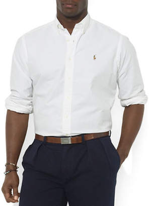 Polo Ralph Lauren Big and Tall Classic-Fit Solid Oxford Sport Shirt