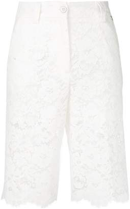 Twin-Set embroidered knee length shorts