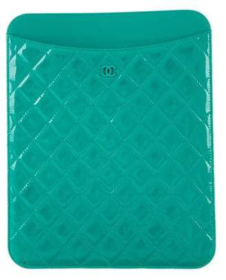 Chanel Quilted Patent Leather iPad Case