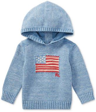 Polo Ralph Lauren Ralph Lauren American Flag Cotton Hoodie, Baby Boys