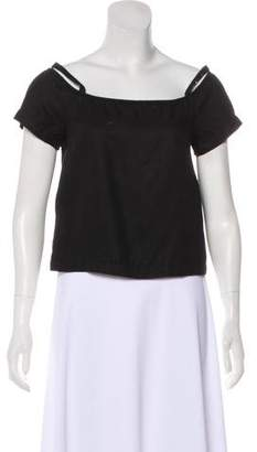 Shaina Mote Short Sleeve Cold-Shoulder Top