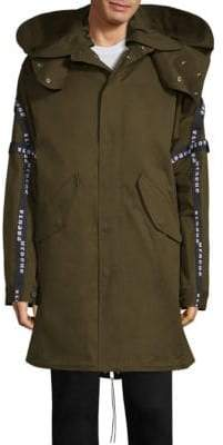 Versus By Versace Mid-Length Hooded Parka