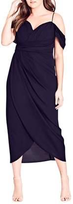 City Chic Entwine Cold Shoulder Maxi Dress