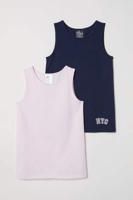 H&M 2-pack Tank Tops - Blue