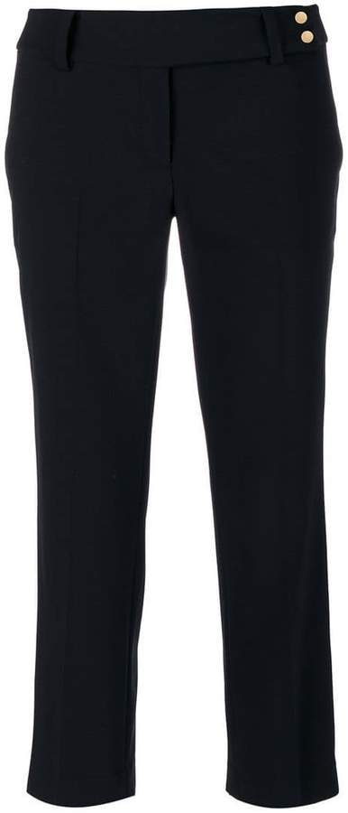 belted cropped tailored trousers - Black Michael Michael Kors TnkP2