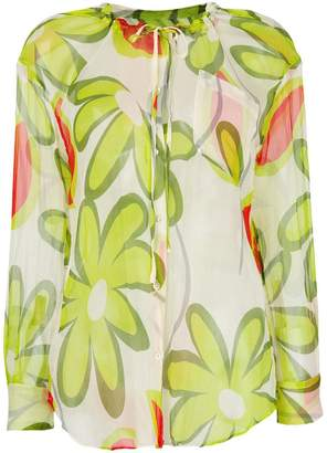 Aspesi floral-print sheer blouse