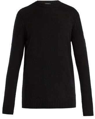 Belstaff South View Crew Neck Ribbed Knit Sweater - Mens - Black