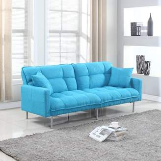 Frederick Zipcode Design Modern Plush Tufted Convertible Sofa