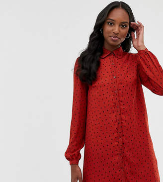 Fashion Union Tall shirt dress in spot
