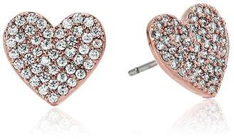 Kate Spade Pave Heart Rose Gold Stud Earrings