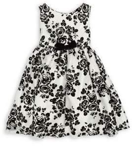 My Princess Wear Little Girl's Velvet Floral Dress