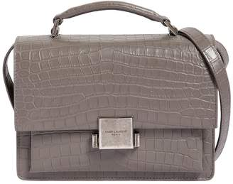 Saint Laurent Bellechasse Croc Embossed Leather Bag